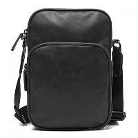 Fashion Style Solid Color and PU Leather Design Messenger Bag For Men - BLACK