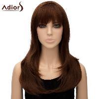 Women's Trendy Adiors Full Bang Long High Temperature Fiber Wig - LIGHT BROWN
