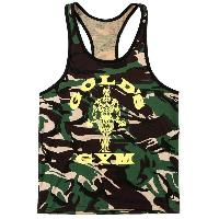 Fashion Camouflage Printed Tank Top For Men - CAMOUFLAGE
