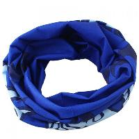 Stylish Flame Pattern Blue Scarf For Men - BLUE