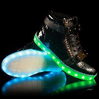 Colorful Glowing Shoes - BLACK