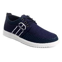 Splicing Stitching Lace-Up Casual Shoes - DEEP BLUE