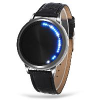 Water Resistant LED Touch Screen Watch - BLACK