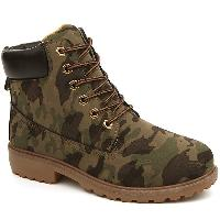 Eyelets Lace Up Camouflage Printed Boots - CAMOUFLAGE COLOR