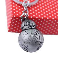 BB - 8 Portable Robot Shape Key Chain Zinc Alloy Pendant for Bag Decoration - GRAY
