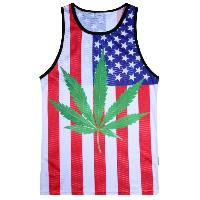 Weed Flag Pattern Tank Top - COLORMIX