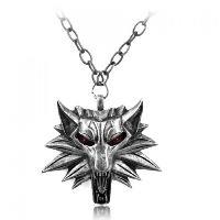 Wolf Head Shape Pendant Necklace - RANDOM COLOR PATTERN