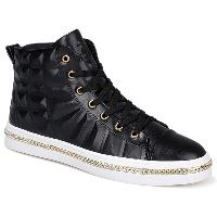 Chains Embossed Sneakers - BLACK