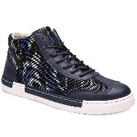 Splicing PU Leather Colour Block Casual Shoes - PURPLISH BLUE