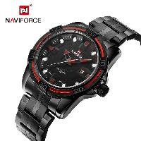 NAVIFORCE NF9079 Business Hollow-out Pointer Quartz Watch for Men - RED