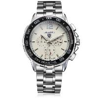 Tevise Men Automatic Mechanical Wristwatch with Date Day Display - WHITE