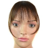 Trendy Ultrathin Capless Stunning Clip In Synthetic Women's Full Bang With Sideburns - BROWN /