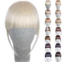 Fashion 14 Colors Clip In Synthetic Front Full Bang With Sideburns For Women - LIGHT GOLD