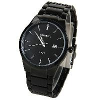 Curren Quartz Watch with Strips Indicate Steel Watch Band for Men