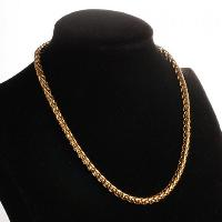 Gold Plated Chain Necklace - GOLDEN