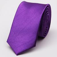 Stylish Various Candy Colors 5CM Width Tie For Men - PURPLE
