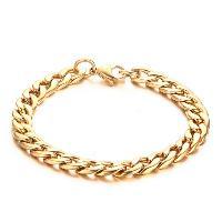Vintage Alloy Solid Color Bracelet For Men - GOLDEN