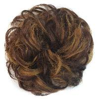 Shaggy Curly Capless Stunning Brown Mixed Heat Resistant Fiber Chignons For Women - COLORMIX