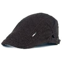 UV Protection Jeff Cap with Alloy Label - COFFEE