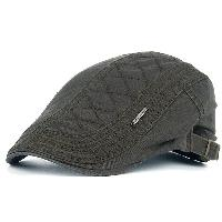 UV Protection Jeff Cap with Alloy Label - ARMY GREEN