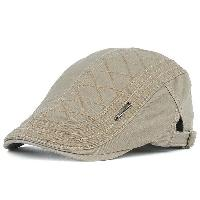 UV Protection Jeff Cap with Alloy Label - OFF WHITE