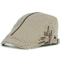 UV Protection Cadet Hat with Embroidery - LIGHT KHAKI