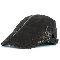 UV Protection Cadet Hat with Embroidery - COFFEE