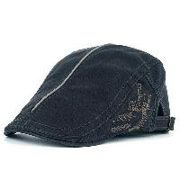 UV Protection Cadet Hat with Embroidery - DEEP GRAY