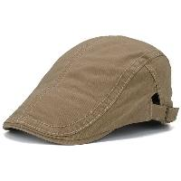 UV Protection Jeff Cap with Sewing Thread - KHAKI
