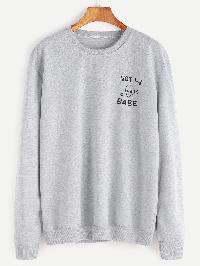 Light Grey Alien Print Sweatshirt
