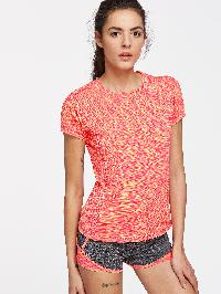 Active Space Dye Tee With 2 In 1 Shorts
