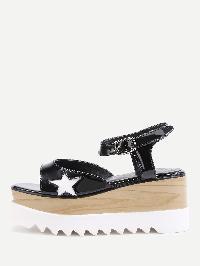 Star Pattern Wedge Sandals