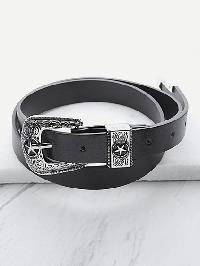 Contrast Buckle Vintage Belt