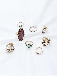 Mixed Rhinestone Ring Set