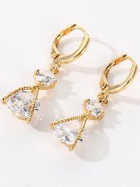 Double Rhinestone Drop Earrings