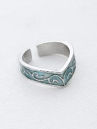 Simple Carved Cuff Ring