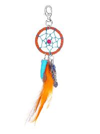 Dreamcatcher And Feather Drop Keychain