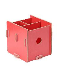 Wood Makeup Storage Box