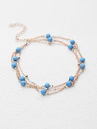 Contrast Beaded Detail Chain Bracelet