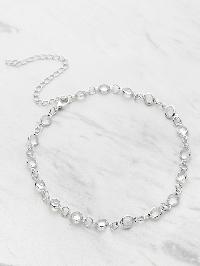 Crystal Detail Delicate Choker Necklace