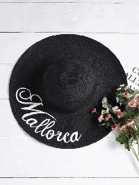 Letter Embroidery Straw Beach Hat