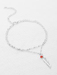 Feather Charm Chain Bracelet/Anklet