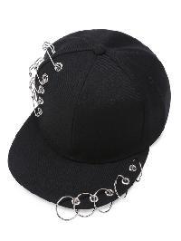 Pin And Ring Detail Baseball Cap