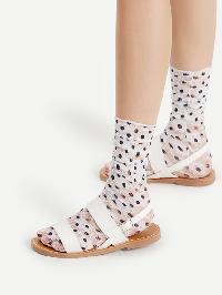 Polka Dot Lace Ankle Socks