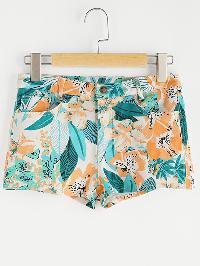 Floral Loose Beach Shorts