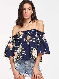 Florals Off Shoulder Top