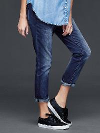Gap 1969 Distressed Boyfriend Jeans - Imperial indigo