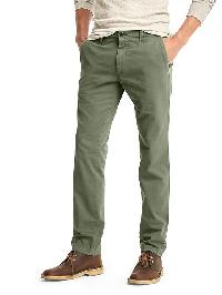 Gap Slub Twill Pants (Slim Fit) - Desert cactus