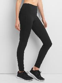 Gapfit Blackout Technology Gfast High Rise Leggings - True black