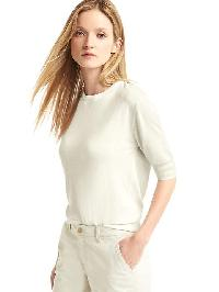 Gap Half Sleeve Easy Pullover - New off white